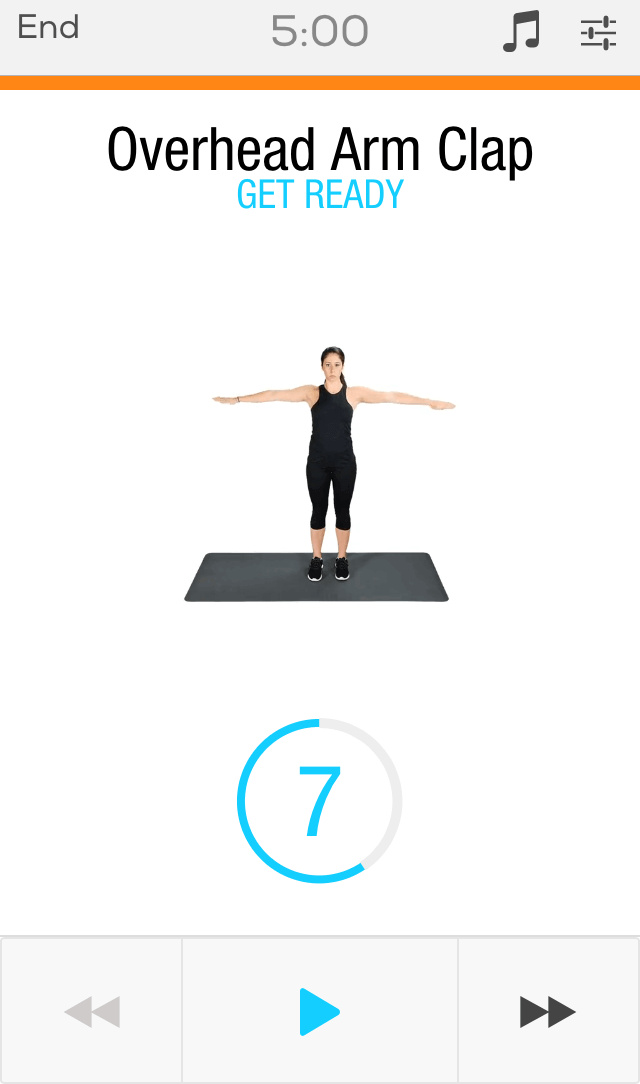 fitness app screen