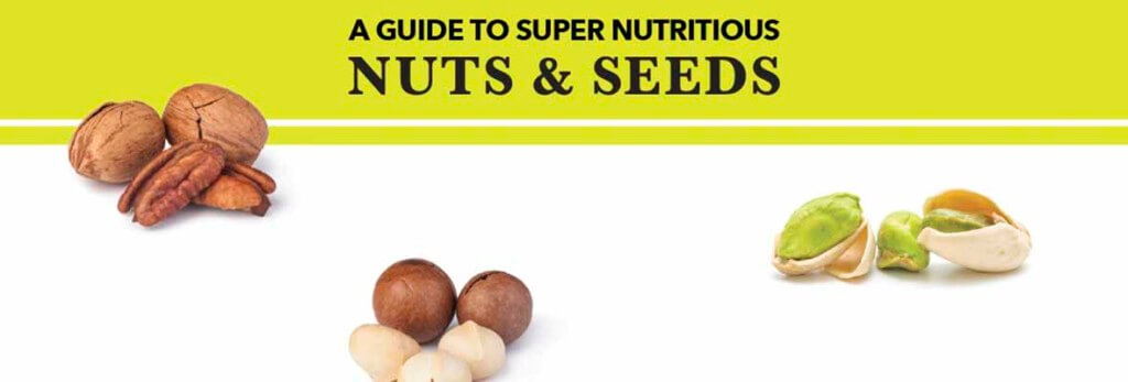 header of nuts and seeds infographic