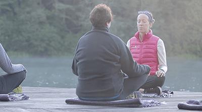 meditation at skyterra by lake