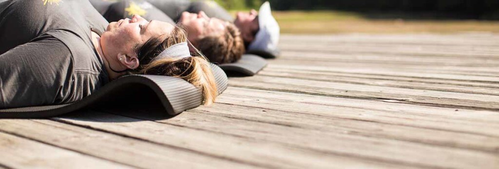 outdoor morning meditation at skyterra