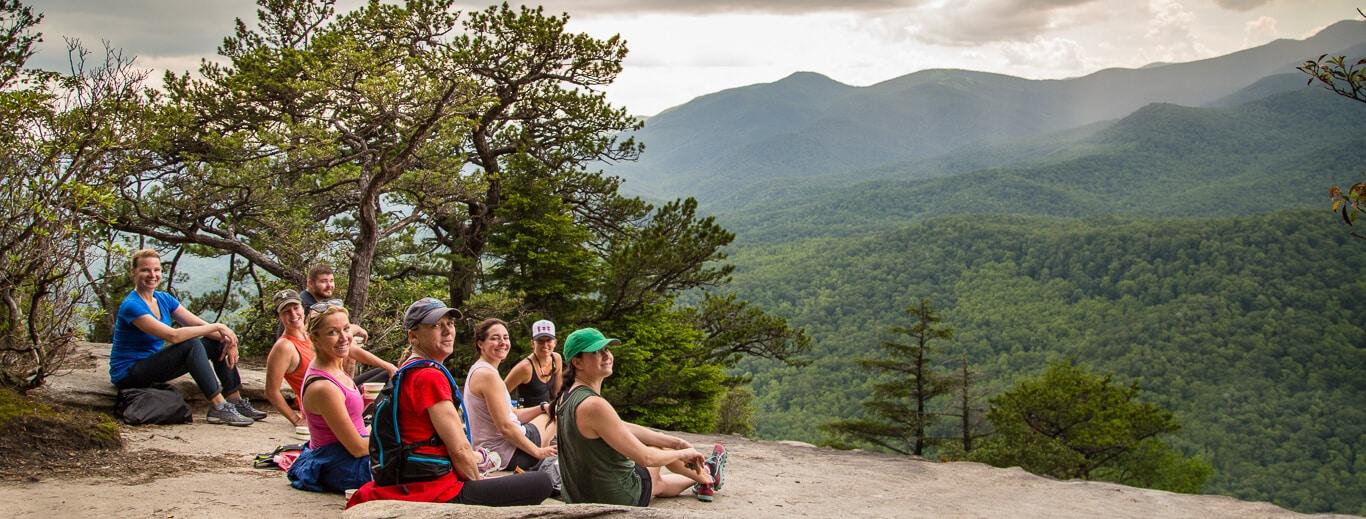 A Skyterra group of friends enjoying the Blue Ridge Mountains.